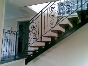 Steel iron staircase Fabrication for a Home